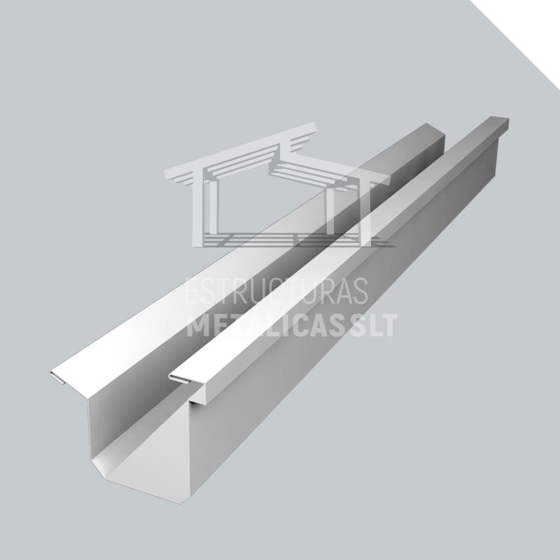 canalon-lateral-accesorios metalicos para construccion de naves industriales